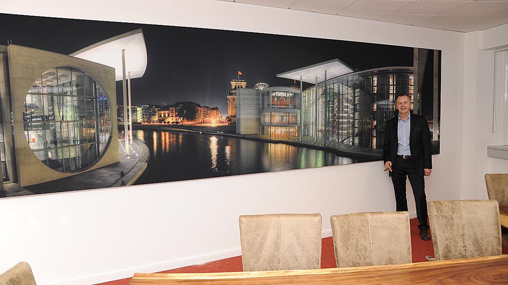 Mega-Panorama, in 550x150 cm